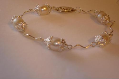 Tin cup bracelet crop