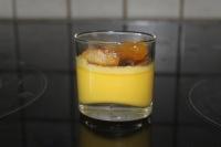 verrine crème brulé + pommes caramelisée