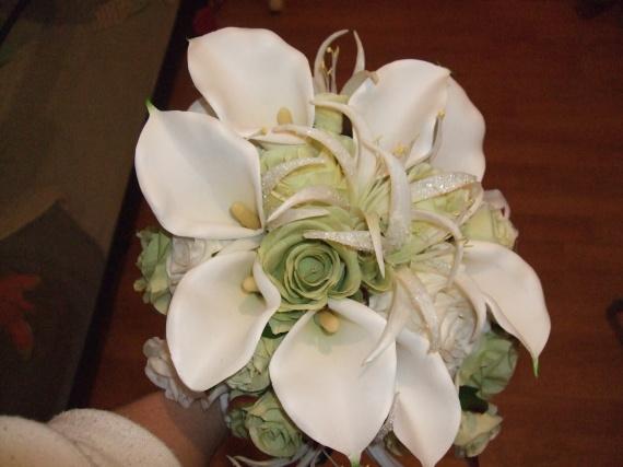 bouquet vue de dessus