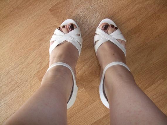 mes chaussures vue de dessus