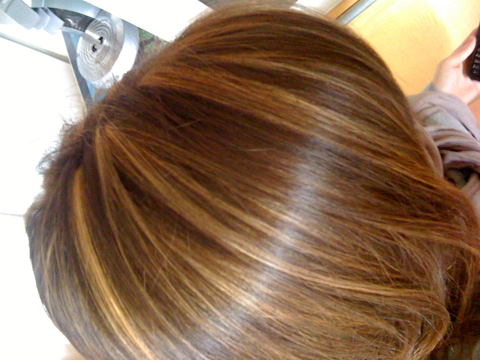 Couleur de cheveux apres meche