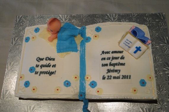 Inscription gateau bapteme