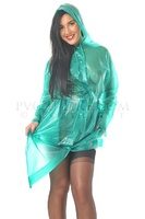 Imper' PVC vert transparent