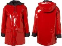 TOPSHOP - red shiny plastic mac