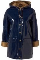 Blue-hooded-shiny-plastic-mac