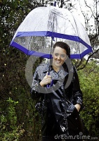attractive-young-woman-dressed-wet-weather-shiny-black-raincoat-umbrella-30286092