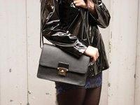 Black patent iconic waxed Petit Bateau raincoat