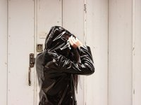 Black Petit Bateau raincoat