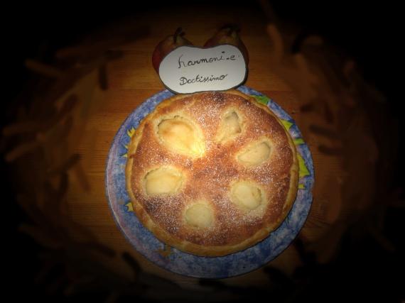tarte a la poire Amandine