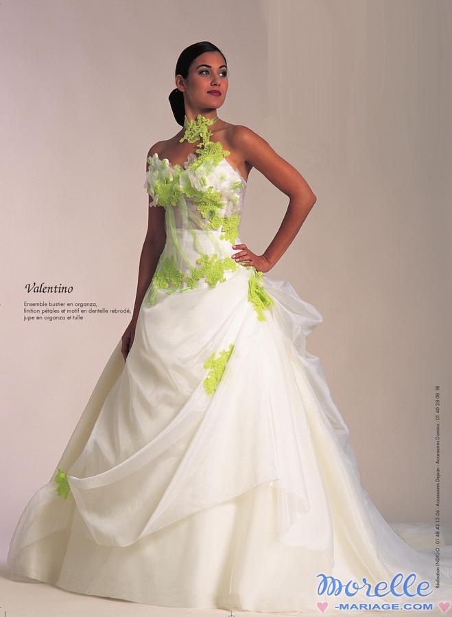Robe De Mariage Vert Et Blanc Robe A La Mode 2019