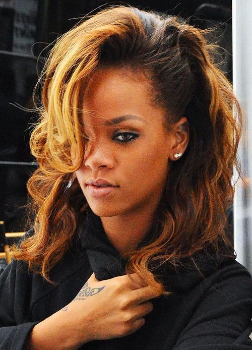 Coiffure Rihanna Tresse