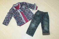 jean bourget 3 pieces : thsirt, chemise, et jean 24 mois 30 euros