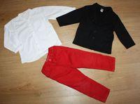veste molleton TAO chemise h&m pantalon okaidi 2 ans 25 euros