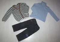 gilet h&m 12/18 mois 84 cm taille 2 ans col roule vert baudet 3 ans taille petit pantalon catimini 1