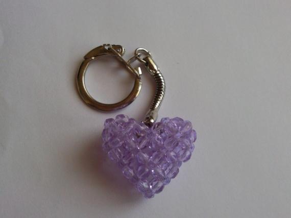 Porte cl coeur violet pour marianne autres creations les perles de lo photos club - Porte cle perle ...