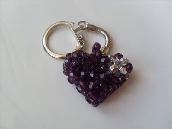 Porte cl coeur r serv autres creations les perles de lo photos club doctissimo - Porte cle perle ...