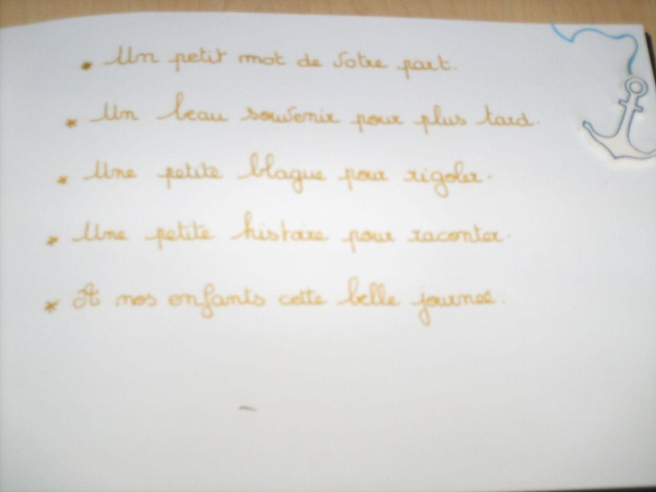 Texte A L Interieur Livres D Or Loulette62 Photos