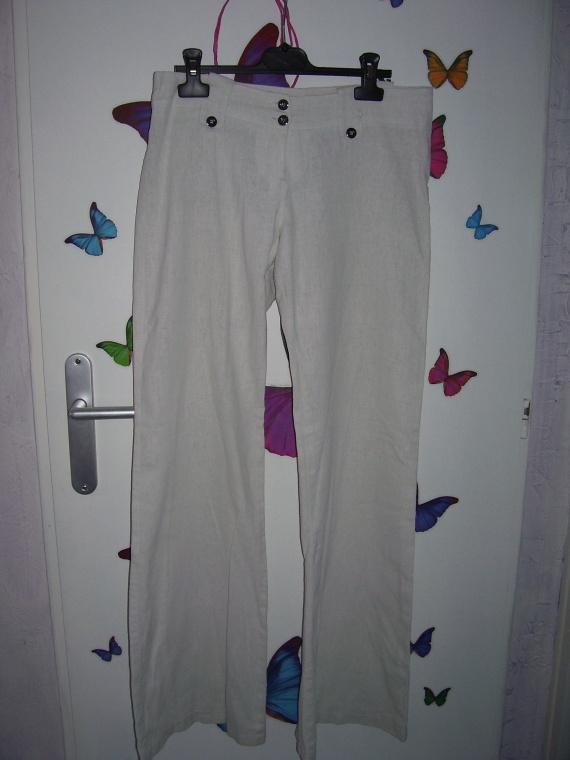 pantalon lin blanc 38 6 femme vente de ma soeur jeluchis photos club doctissimo. Black Bedroom Furniture Sets. Home Design Ideas
