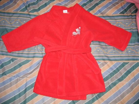 robe de chambre rouge 5€