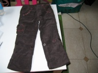 pantalon velour marron noté 4 ans 2€