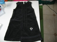robe noir velour OKAIDI grand 3ans 3€