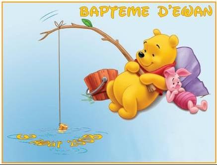 Faire part winnie l 39 ourson pour bapteme - Decoration winnie l ourson pour bapteme ...