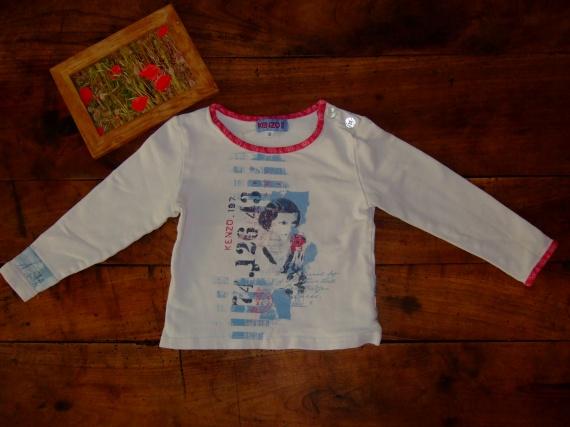 LP64-18 mois 2ans T-shirt ML kenzo (6€)