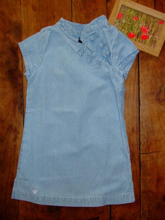 SC4- 4 ans robe en jean lili gaufrette (8€)