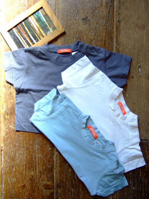 CC167- 12mois Lot de 3 t-shirts MC Okaou - jamais portés (2,5€)