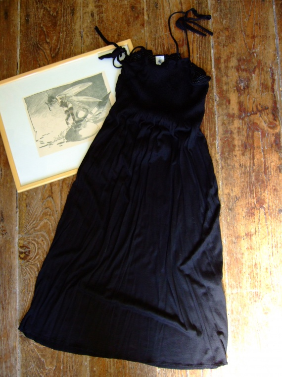 CC203- femme Taille 14 ans Robe noire petit bateau (6€) RESERVE Leslie