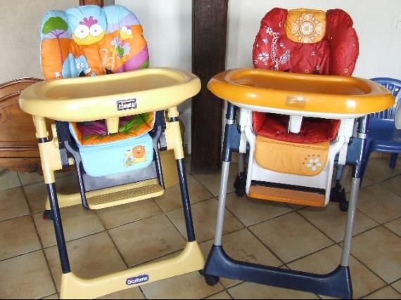 chaises hautes 180 euros les deux ou 100 euro une
