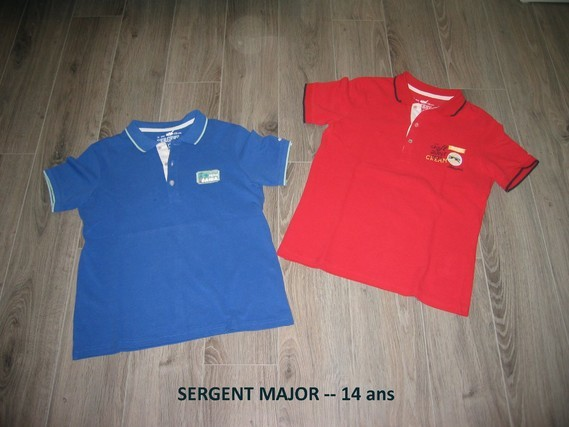 t shirt sergent major polo 14 ans 8 14 ans. Black Bedroom Furniture Sets. Home Design Ideas
