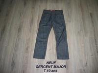 NEUF -- Jean SERGENT MAJOR T.12 ans (indiqué 10 ans mais taille très grand)  -- 15€