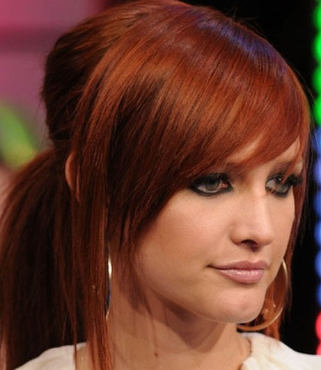 merci davance ashlee simpson red hair - Coloration Roux Cuivr