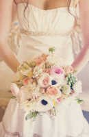 fleurs bouquet-mariage-craspedias-pivoines