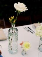 fleurs blanc et baies