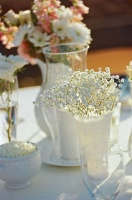 fleurs blanc gypso bouquet