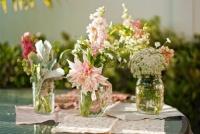 fleurs bocaux bouquet