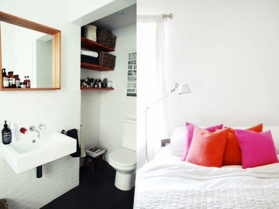Salle de bain carrelage metreo blanc sol noir d co sdb for Salle de bain sol noir
