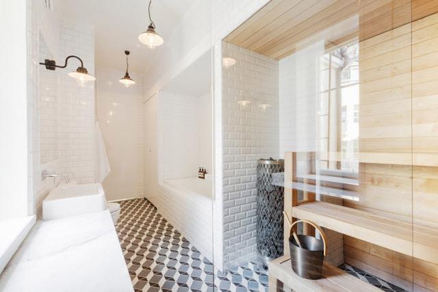Salle de bain carrelage metro toute la hauteur 2 d co - Hauteur carrelage salle de bain ...