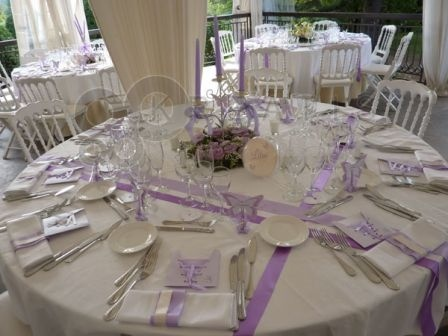 Chemin table ruban deco mariage jennyaniss photos - Deco table ronde ...