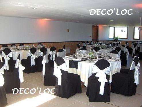 Crbst mariage 20mme 20lessieur diverses deco tables - Decoration de salle noir et blanc ...