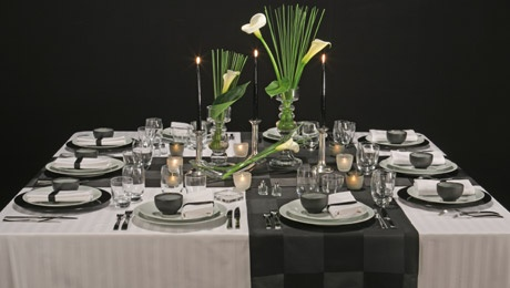 White black 2006 diverses deco tables pri y photos for Monoprix art de la table