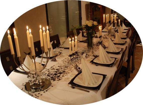 Table jour de l an diverses deco tables pri y photos club doctissimo - Deco de table jour de l an ...