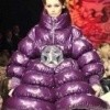 robe doudoune violette super epaisse