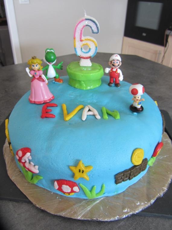 gâteau mario anni evan 6 ans