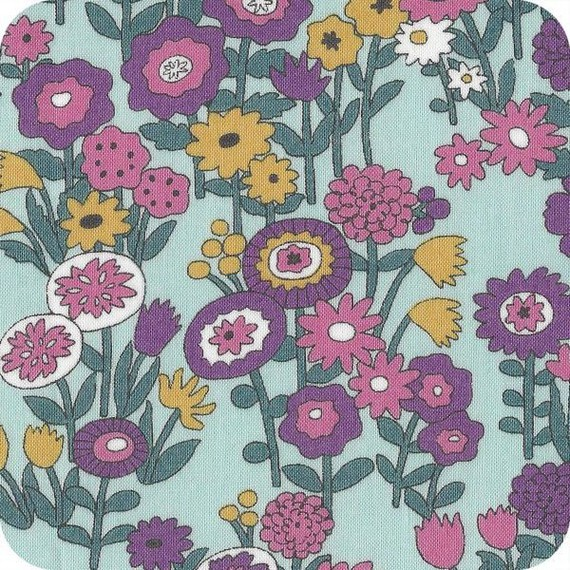 tissu-froufrou-blue-flowers