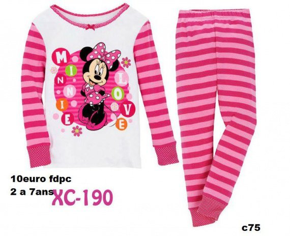 pyjama minnie 2 ans ete 2013 shana ticret photos. Black Bedroom Furniture Sets. Home Design Ideas