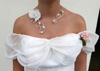 collier- mariée- feerique- perle- fleur-ras cou-mariage-bijoux mariée