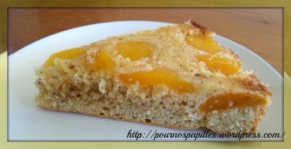 gâteau à l'abricot au sirop